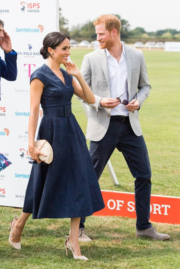 The Duke and Duchess of Sussex at the Sentebale Polo on July 26,