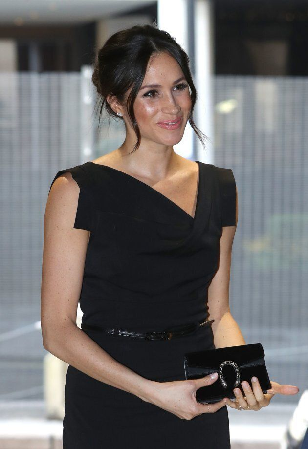 Meghan Markle attends a reception for Women's Empowerment in London on April 19,