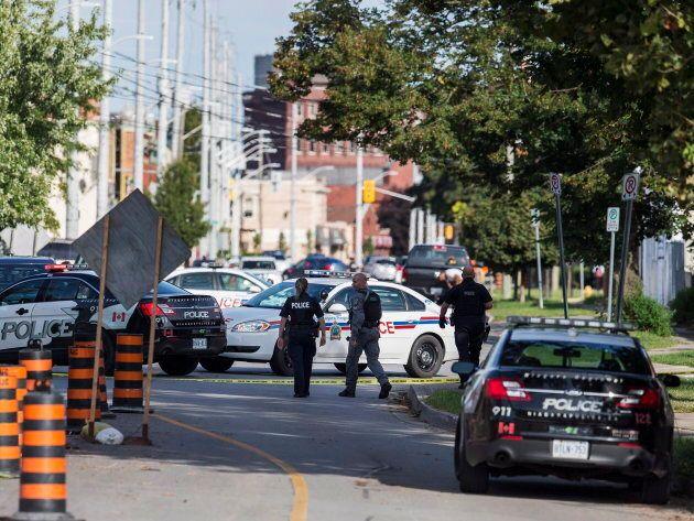Niagara Regional Police respond to a shooting near Church and Niagara streets in St. Catharines,