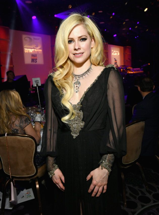Avril Lavigne attends the 25th Annual Race To Erase MS Gala on April 20, 2018 in Beverly Hills,