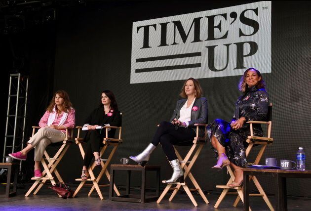 From left, Dr. Stacy L. Smith, founder and director of the USC Annenberg Inclusion Initiative, actress...