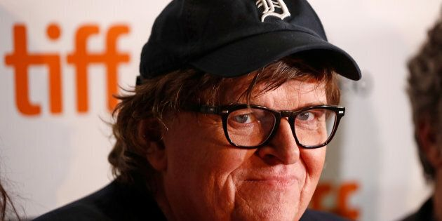 Michael Moore arrives for the world premiere of 'Fahrenheit 11/9' at TIFF on September 6,