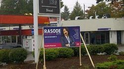 Racists Vandalizing Surrey Election Signs: