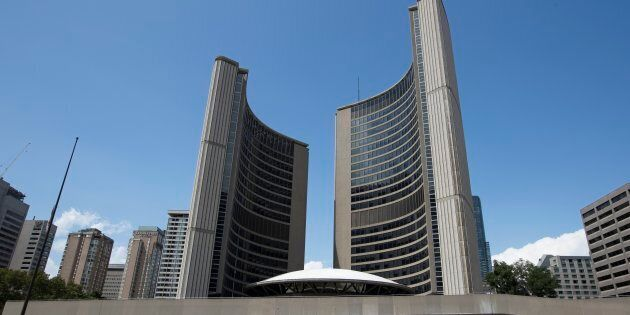 Toronto City Hall is pictured on July 29,