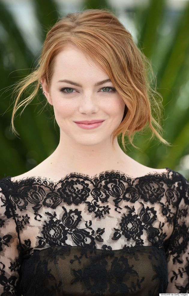 Emma Stone Rocks Black Lace Mini Dress At Cannes