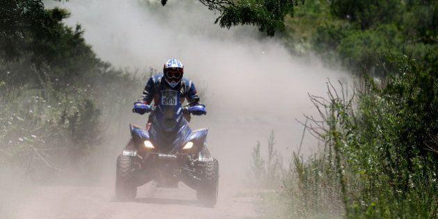 CORDOBA, ARGENTINA - JANUARY 16: #260 Christophe Declerck of France for team Quad Adventures on the Raptor...