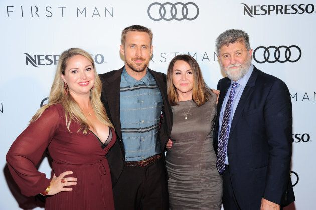 Ryan Gosling and his family at the 'First Man' after-party co-hosted by Nespresso and Audi Canada.