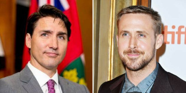 Friends Justin Trudeau and Ryan Gosling.