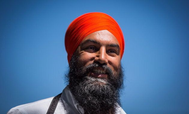 NDP Leader Jagmeet Singh arrives for a news conference in Vancouver, on Friday July 13,
