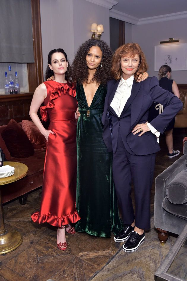 The movie's stars Emily Hampshire, Thandie Newton and Susan Sarandon at