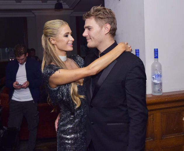 Paris Hilton and Chris Zylka at