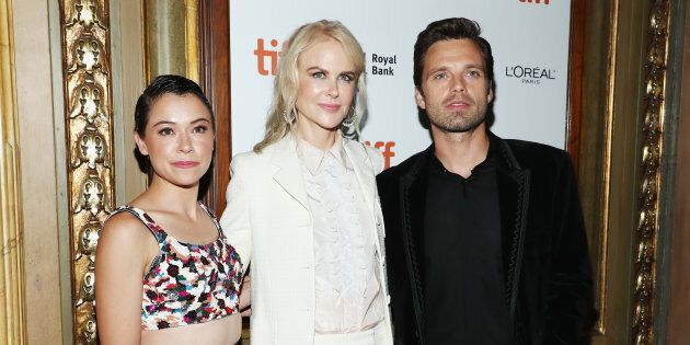 Tatiana Maslany, Nicole Kidman and Sebastian Stan at the 'Destroyer' premiere at TIFF on Sept. 10,