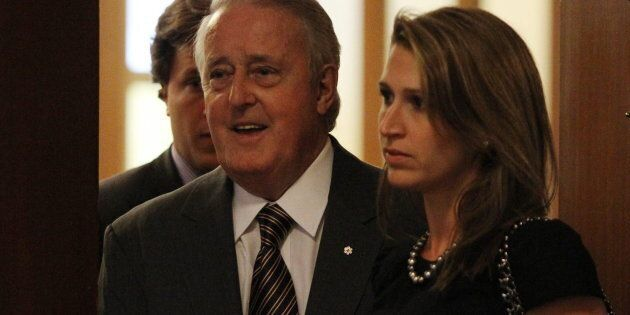 Former prime minister Brian Mulroney and his daughter Caroline arrives for the Spirit of Hope benefit...