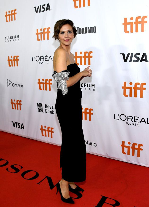 Maggie Gyllenhaal at the TIFF premiere of 'The Kindergarten Teacher' on September 13,