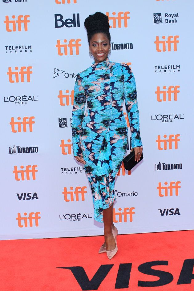Teyonah Parris at the TIFF premiere of 'If Beale Street Could