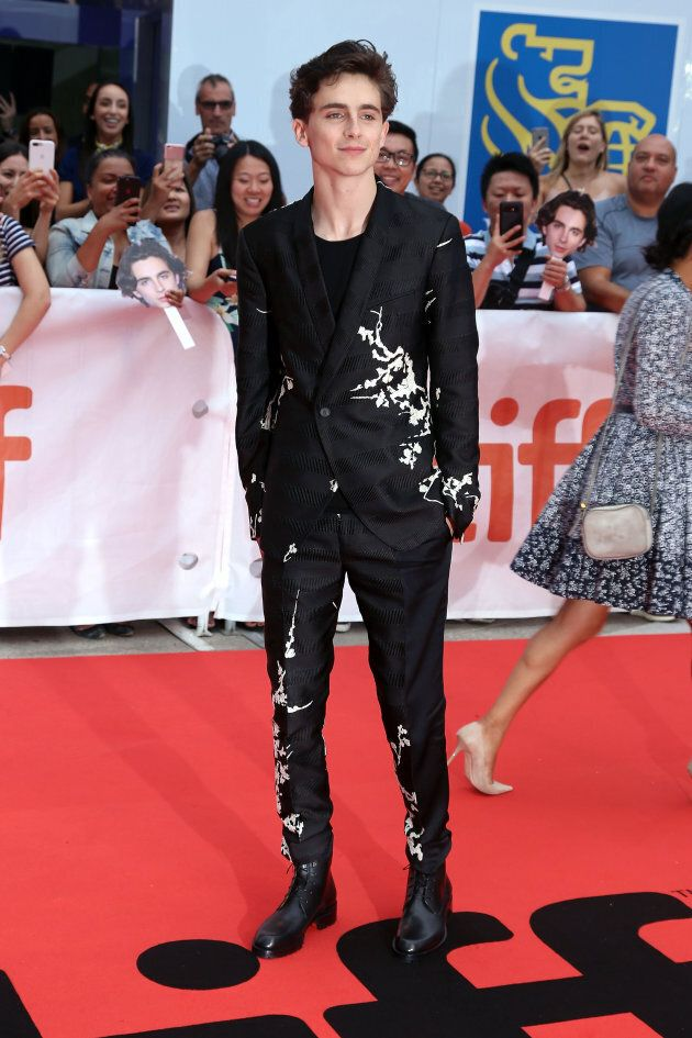 Timothee Chalamet attends the 'Beautiful Boy' premiere at
