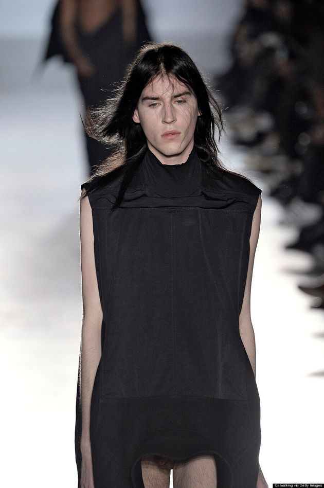 Rick Owens Sends Models With Their Penises Hanging Out On The Runway