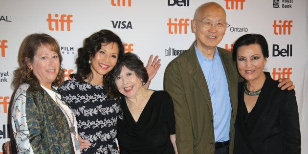 Heidi Levitt, Tamlyn Tomita, Tsai Chin, director Wayne Wang and Kieu Chinh at the anniversary screening...