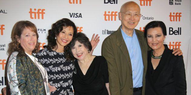 Heidi Levitt, Tamlyn Tomita, Tsai Chin, director Wayne Wang and Kieu Chinh at the anniversary screening of 'The Joy Luck Club' at the Toronto International Film Festival on Thursday.