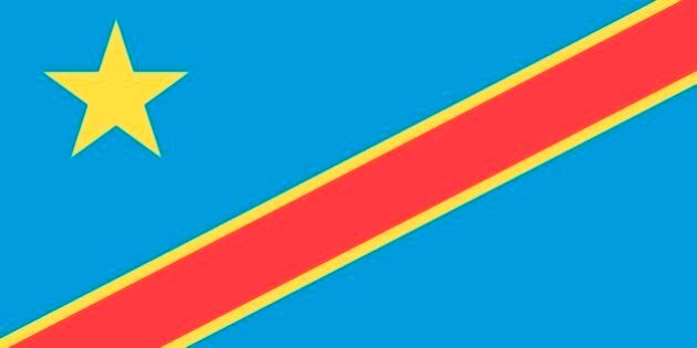 Flag Of The Democratic Republic Of The Congo (Formerly Zaire). (Photo By Encyclopaedia Britannica/UIG...