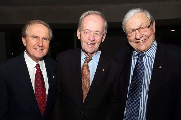Former Saskatchewan premier Roy Romanow, former prime minister Jean Chretien and former chief justice...