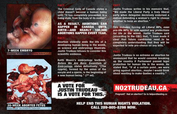 Justin Trudeau Targeted In Anti-Abortion Flyers