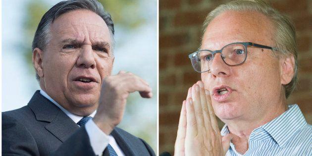Coalition Avenir Quebec leader François Legault and Parti Quebecois Leader Jean-François
