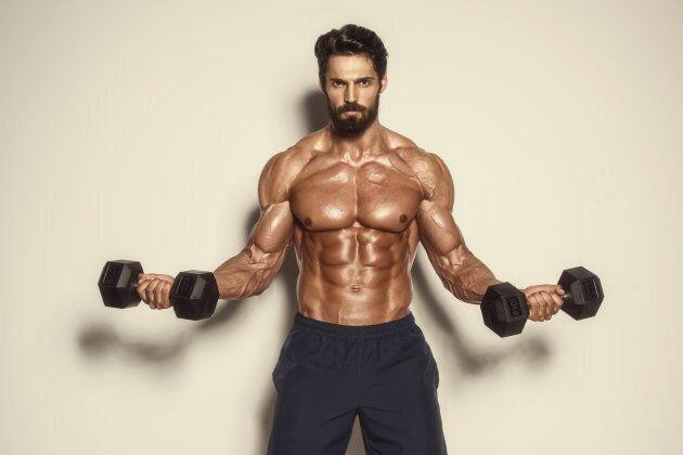 Muscular men getting more muscular.