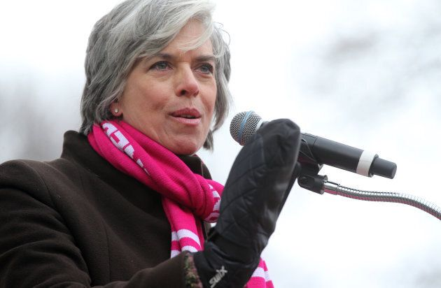 U.S. Congresswoman Katherine Clark addresses the crowd during a Stand With Planned Parenthood rally at...