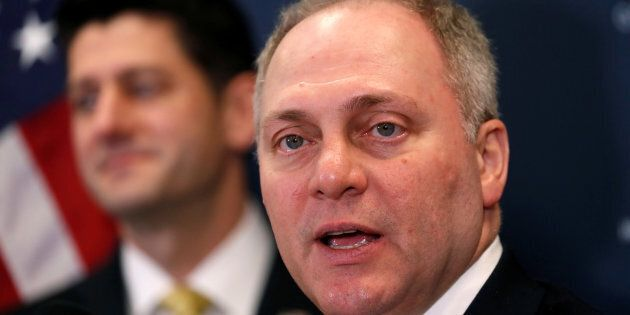 Steve Scalise speaks in the U.S. Capitol in Washington on Jan. 9,