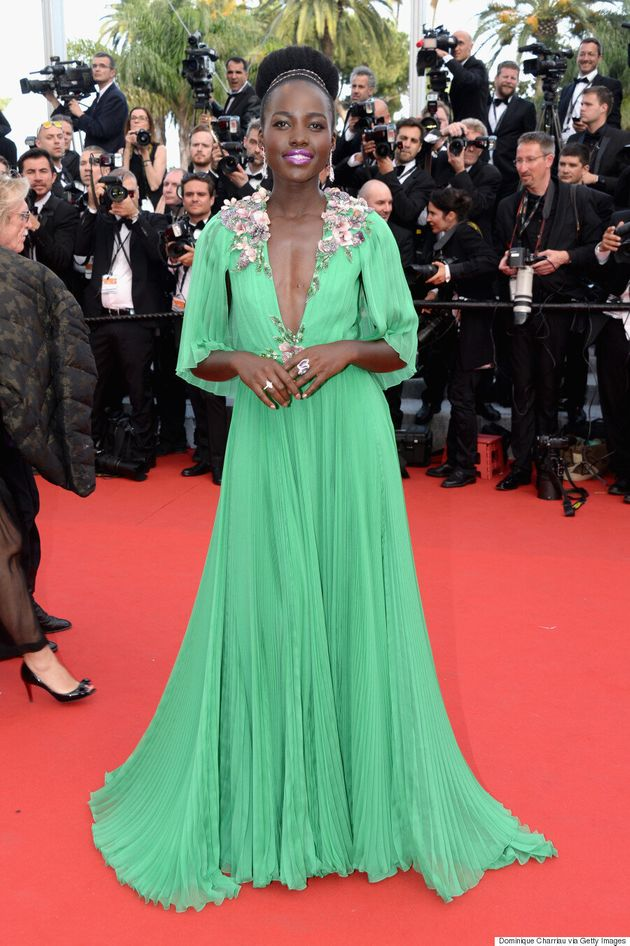 Lupita Nyong'o Is A Goddess In Green At Cannes