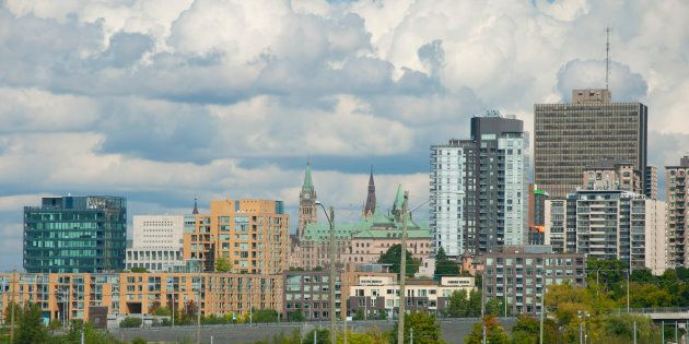 Apartment buildings in the LeBreton Flats area of downtown Ottawa. The city is among many in Ontario where rental rates have soared by double digits over the past year.