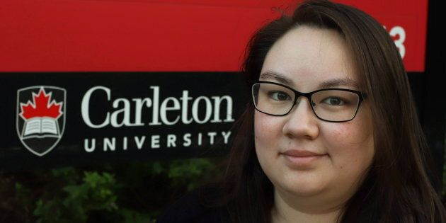 Jade Cooligan Pang, a Carleton University student and president of Our Turn, a national student-led organization that advocates for stronger sexual violence policies on campus is shown at Carleton University  on Aug. 31, 2018.