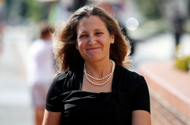 Foreign Affairs Minister Chrystia Freeland arrives at the Office of the United States Trade Representative...
