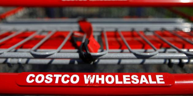 Shopping carts are seen at a Costco Wholesale store in Glenview, Illinois, May 24,