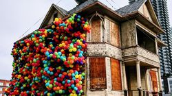 Balloon-Covered Calgary House Is A Delightful Homage To The Movie