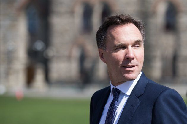 Minister of Finance Bill Morneau arrives on Parliament Hill on Sept. 17, 2018.