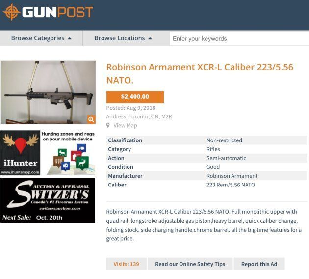 A Robinson Armament XCR-L available for sale on