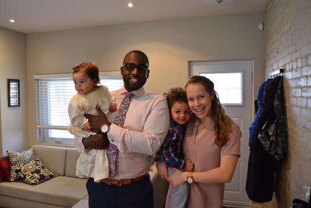 Kareem and Emily Morant with their kids.