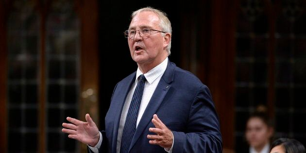 Minister of Border Security and Organized Crime Reduction Bill Blair rises in the House of Commons on Parliament Hill in Ottawa on Sept. 24, 2018.