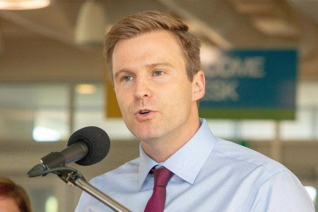 New Brunswick Liberal Leader Brian Gallant speaks at a campaign stop in Fredericton on Sept. 5,