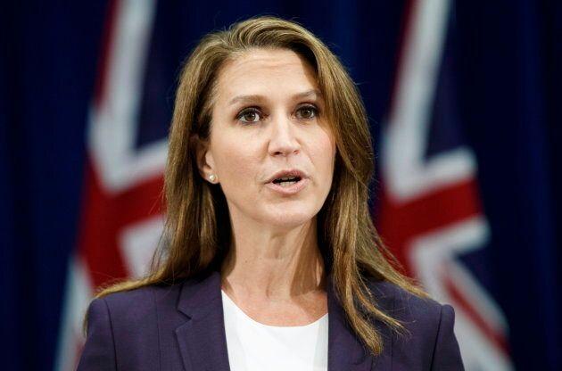 Ontario's Attorney General Caroline Mulroney speaks about new legislation for selling marijuana, in Toronto...