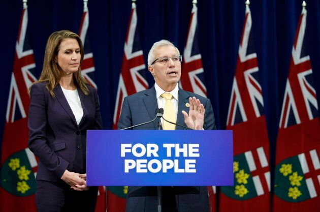 Ontario's Minister of Finance Vic Fedeli and Attorney General Caroline Mulroney speak about new legislation...