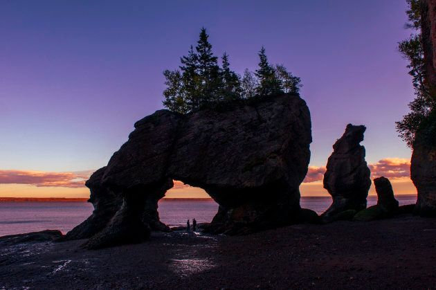 Hopewell Rocks in Hopewell Cape, New Brunswick.