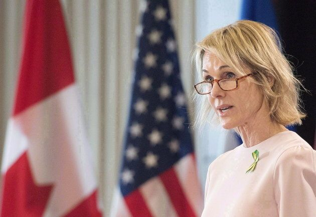 Kelly Craft, United States Ambassador to Canada, speaks to the Montreal Council on Foreign Relations...