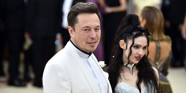 Elon Musk and Grimes attend the Heavenly Bodies: Fashion & The Catholic Imagination Costume Institute...