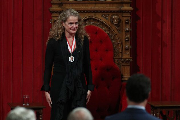 Julie Payette during the ceremony where she was named Governor General in Ottawa, on Oct. 2,