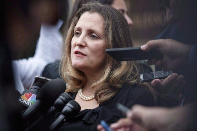 Chrystia Freeland at the Office Of The United States Trade Representative in Washington D.C. on Sept....