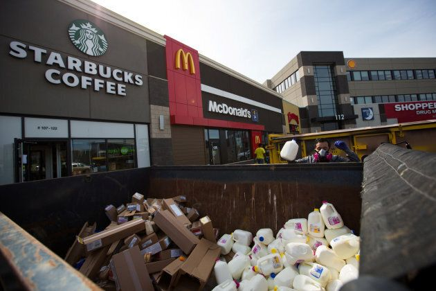 Fort McMurray store crews had to remove all food products from their stores after the