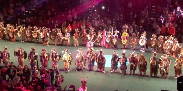 Powwow dancers take to the floor in Edmonton, in a powerful tribute to missing and murdered Indigenous...